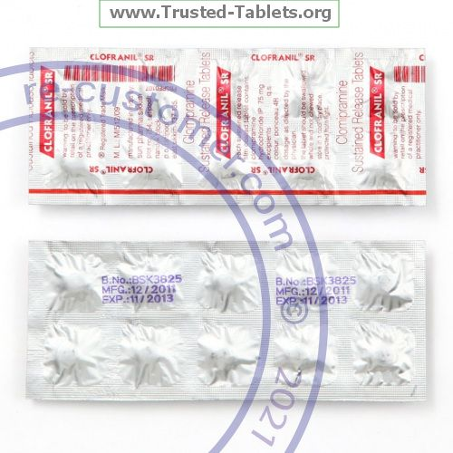 Trustedtabs Pharmacy. anafranil-sr tablets. Uses, Side Effects, Interactions, Pictures