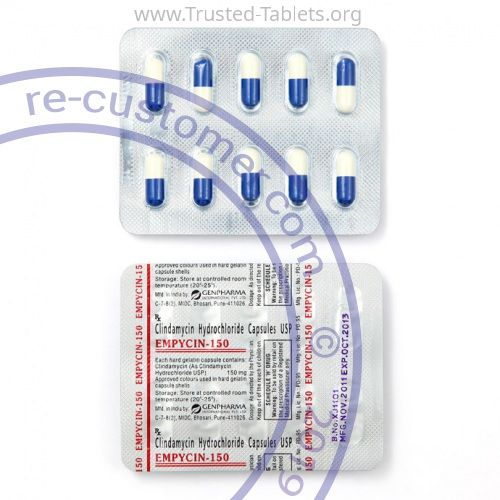 Trustedtabs Pharmacy. cleocin tablets. Uses, Side Effects, Interactions, Pictures
