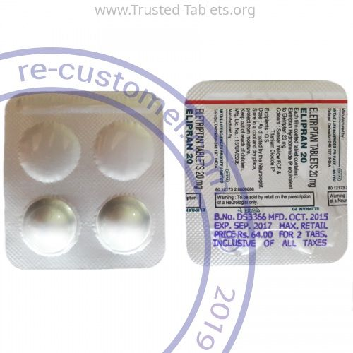 Trustedtabs Pharmacy. relpax tablets. Uses, Side Effects, Interactions, Pictures