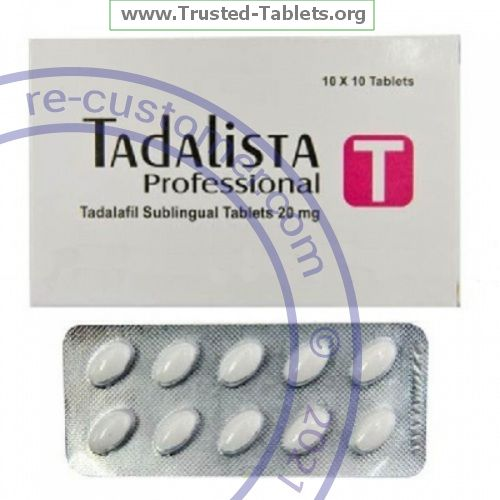 Trustedtabs Pharmacy. tadalista-professional tablets. Uses, Side Effects, Interactions, Pictures
