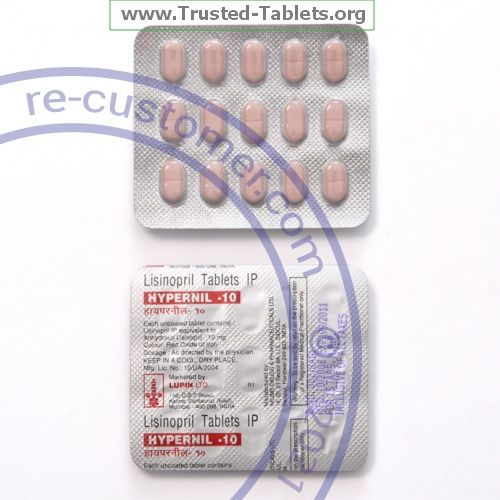 Trustedtabs Pharmacy. zestril tablets. Uses, Side Effects, Interactions, Pictures